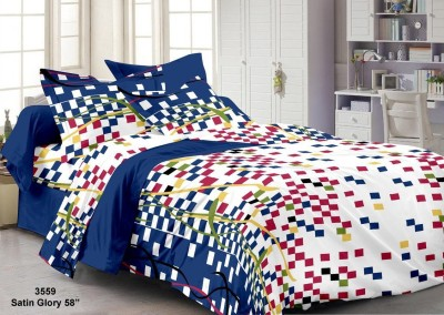 CLOTH FUSION Cotton Abstract Single Bedsheet