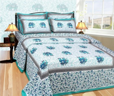 omne Cotton Checkered Double Bedsheet