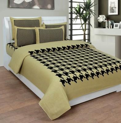 GARIMA 3 STAR Cotton Abstract Double Bedsheet