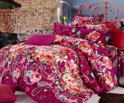 Silver Thread Polycotton Printed King sized Double Bedsheet