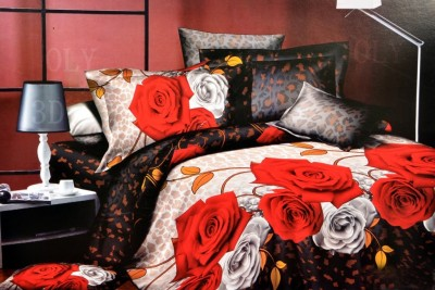 Welhouse India Polyester Floral Double Bedsheet