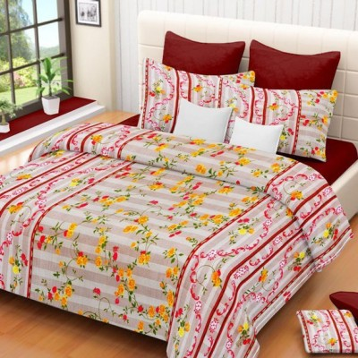 Madhavs Cotton Floral Double Bedsheet