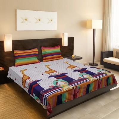 Sofitel Cotton Linen Blend Animal Queen sized Double Bedsheet