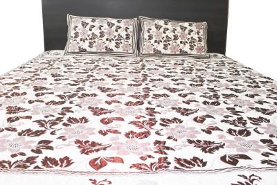 IRS Cotton Linen Blend, Cotton Silk Blend Floral Double Bedsheet