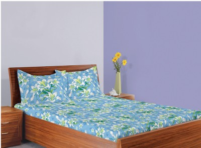 Welhome by Welspun Polycotton Printed Queen sized Double Bedsheet