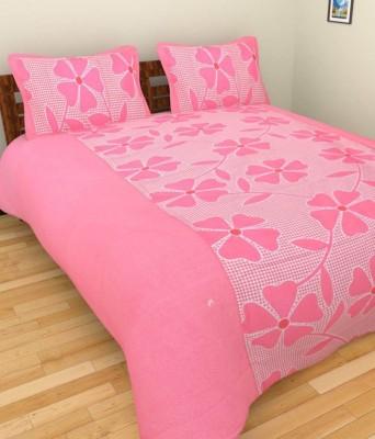 K Decor Cotton Floral Double Bedsheet
