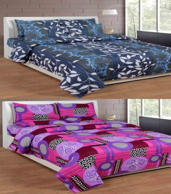 La Elite Cotton Abstract Queen sized Double Bedsheet