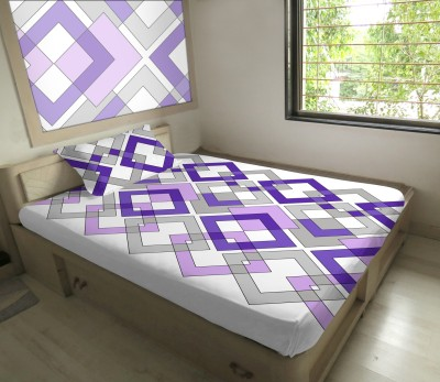 Hemlines Polyester Geometric Single Bedsheet