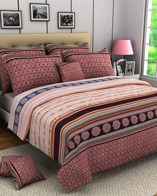 Zyne Polyester Abstract Double Bedsheet