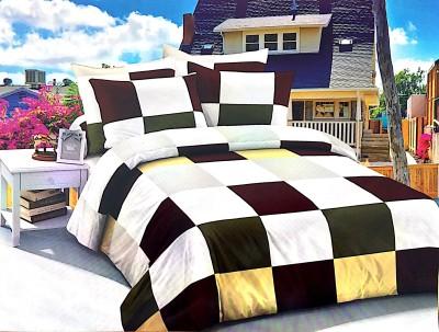 Singhs Villas Decor Polycotton 3D Printed Double Bedsheet