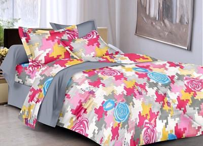 Softon Cotton Silk Blend Printed Double Bedsheet