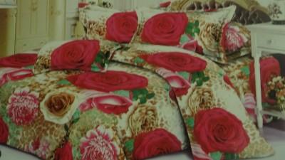 Chhabra Enterprises Polycotton Floral Double Bedsheet