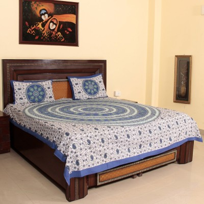 Craftuno Cotton Floral Double Bedsheet