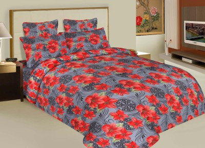 Buy Clues Cotton Floral Double Bedsheet