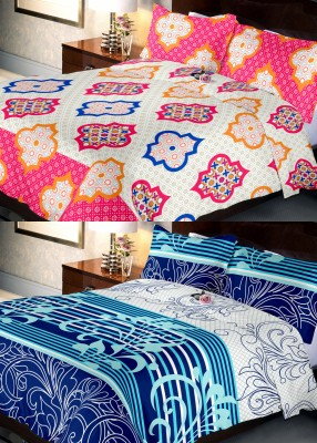 Indien Casa Cotton Printed Queen sized Double Bedsheet