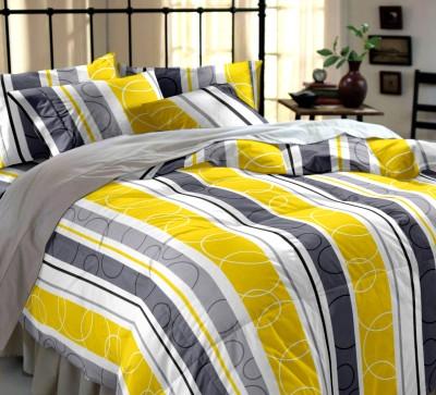Dreamscape Cotton Checkered Double Bedsheet