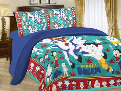 Floroscent Cotton Abstract Double Bedsheet