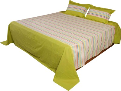 Home Colors Cotton Striped King sized Double Bedsheet