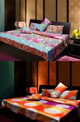 Elegance Polyester Abstract Double Bedsheet
