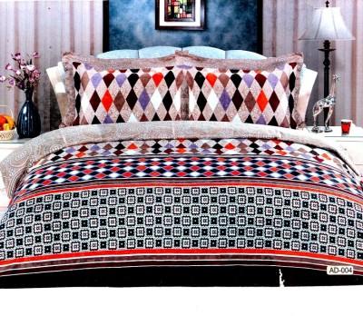 Thiya Fabric Cotton Geometric King sized Double Bedsheet