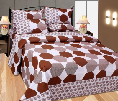 The Intellect Bazaar Cotton Geometric Double Bedsheet