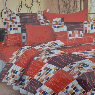 Thefancymart Cotton Checkered Double Bedsheet