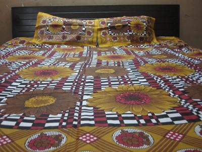 AyushFabrics Cotton Floral Double Bedsheet