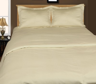 Just Linen Cotton Plain Double Bedsheet