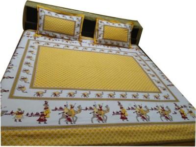 rajasthani virasat Cotton Animal Double Bedsheet