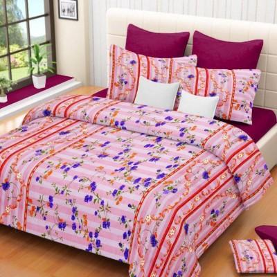Madhavs Cotton Geometric Double Bedsheet