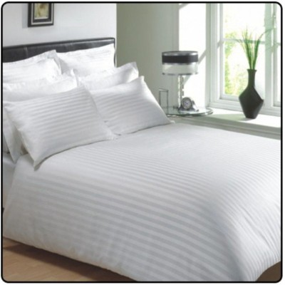Linenwalas Cotton Striped Double Bedsheet