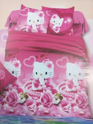 AJ Home Cotton Cartoon Double Bedsheet