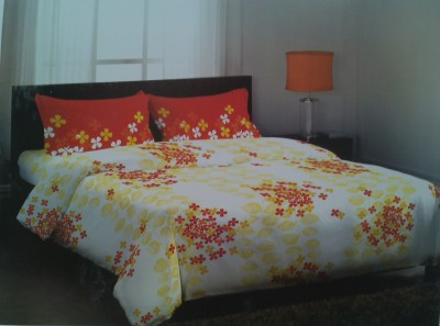 Steller Home USA Portico Cotton Floral Double Bedsheet