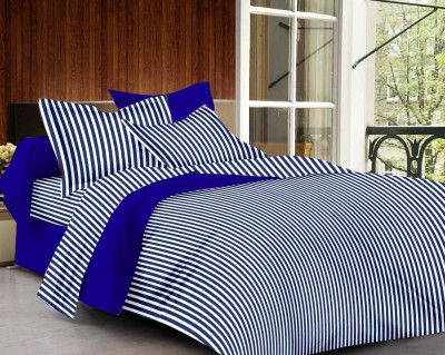 Classic Furnishing Plus Cotton Striped Double Bedsheet