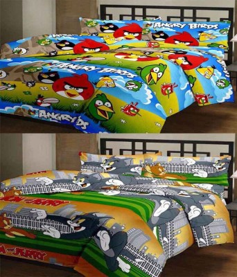 ComfortHome Polyester Printed Single Bedsheet