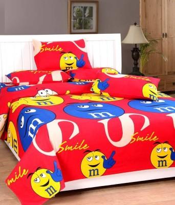 Home Gold Cotton Cartoon Double Bedsheet