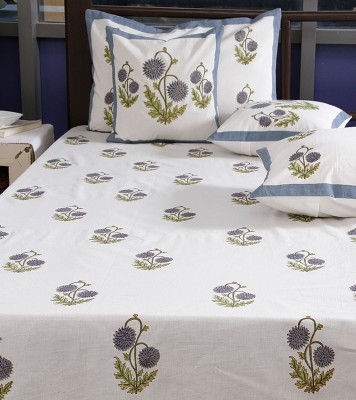 Imli Street Cotton Floral Double Bedsheet