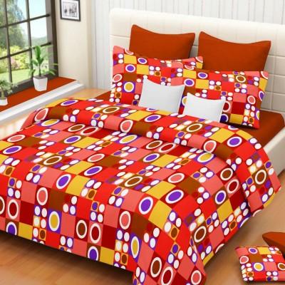 The Sleeping Partner Cotton Geometric Double Bedsheet