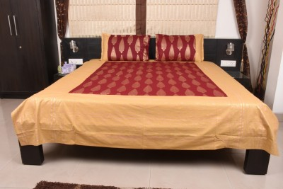 Home Creations Polycotton Embroidered Double Bedsheet