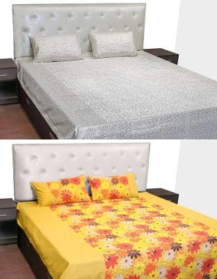 Idrape Cotton Abstract Double Bedsheet