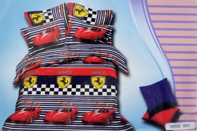 Emporio Cotton Self Design King sized Double Bedsheet
