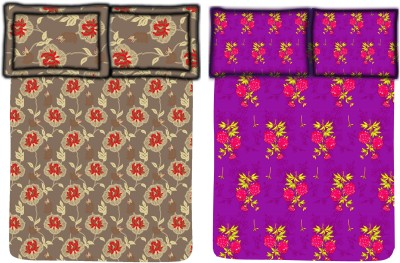 Bella Casa Cotton Floral Single Bedsheet