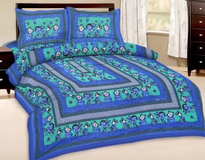Shreeng Cotton Cartoon Double Bedsheet