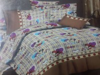 Villas Decor Polycotton Cartoon Double Bedsheet(1 Bedsheet, 2 Pillow Cover, Multicolor)