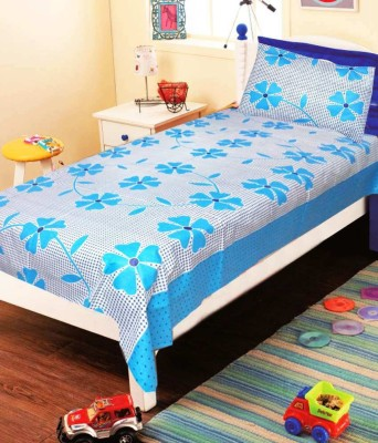 Madhav Products Cotton Floral Single Bedsheet