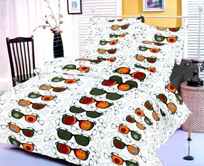 Satcap Cotton Abstract Double Bedsheet