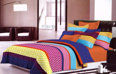 Sassoon Polyester Striped Double Bedsheet
