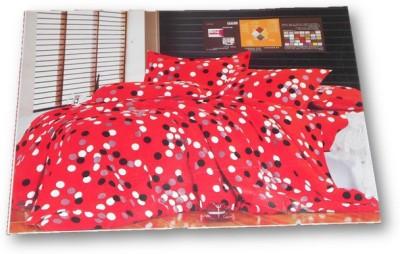 Sudesh Handloom Polycotton, Cotton Polka Double Bedsheet