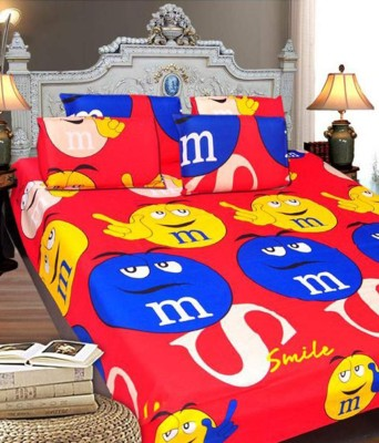 The Intellect Bazaar Cotton Abstract Double Bedsheet