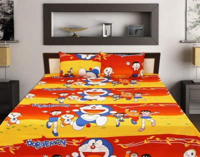 Jaipur Print Cotton Cartoon King sized Double Bedsheet